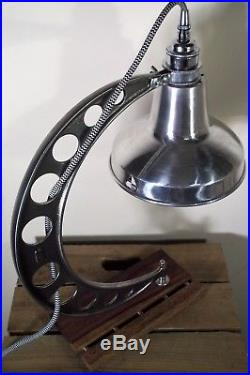 Huge Unique Vintage Cast Iron Industrial/Steampunk/Aviator Table/Desk Lamp/Light