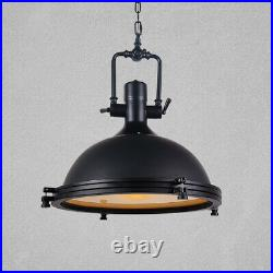 Industrial Vintage Style Pendant Light Fixture Nautical Metal Dome Ceiling Lamp