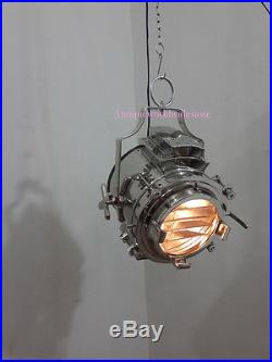 Industrial Vintage chrome Ceiling Pendant Hanging Light Nautical Pendant Lamp