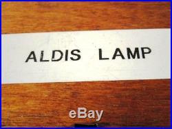 KELVIN HUGHES Vintage Marine ALDIS Light / Lamp Made in ENGLAND (1361)