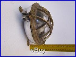 LARGE Vintage Marine DECK Light / Lamp SHIP'S 100% ORIGINAL (77)