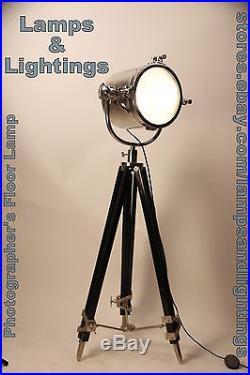 Lamp Floor Nautical Tripod Light Designer Spot Vintage Decor Industrial X-MAS