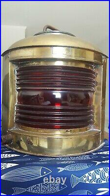 Large Brass Vintage Perko Port Ship Light