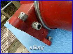 Large Vintage 1960s Red Range Light Multi Bulb