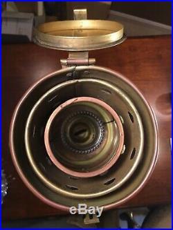 Large Vintage Brass ANCHOR Kerosene Ship Lantern, Deck Light, WORKS GREAT