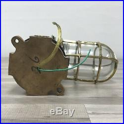 Large Vintage Oceanic Cast Brass Sconce Light