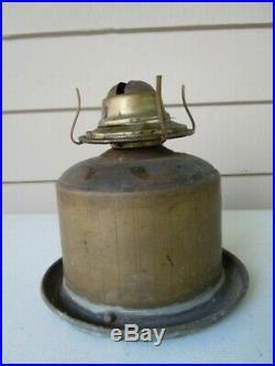 Large Vintage PERKO Galvanized Clear Fresnel Lens Marine Ship Oil Lamp Light