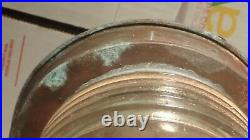 Large Vintage Perko Brass Maritime Nautical Navigation Starboard Light