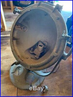 Large vintage search light spotlight Nautical Crouse & Hinds NEEDS RESTORATION