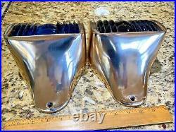 Lg. Pr. Wilcox Crittenden Hinged Cast Bronze Glass Running Lights New Wire/leds