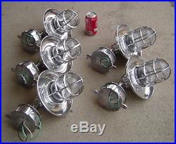 Lot Of 5 Vintage Marine Aluminum Ship's Passageway Lights