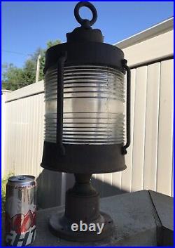 Lot of 3 Large 22 HANOVER Vintage Deck Nautical Yard lantern Light USA Made