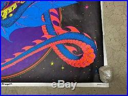 Magic Dragon 1971 black light poster vintage psychedelic myth C1177