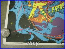 Magic Dragon 1971 black light poster vintage psychedelic myth C66