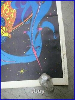 Magic Dragon 1971 black light poster vintage psychedelic myth Displayed C1965