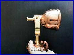 Man O War Authentic Vintage Copper Brass Wall Sconce / Nautical Industrial Light