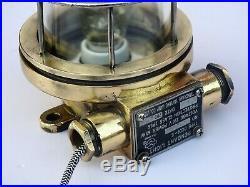 Maritime Salvaged Pendant Light Vintage Brass Navigation Hanging Passage Lamp