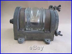 Masthead light, cast brass, solid, vintage, original