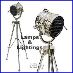 Modern Floor Lamp Marine Vintage Tripod Industrial Nautical Light Bedside LED