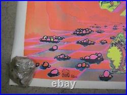 Nasty Nino says Get your Sh! T together black light poster vintage 1972 C1705