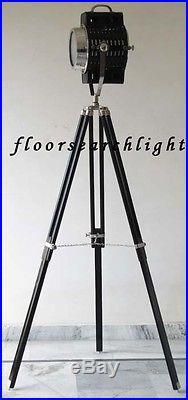 Nautical Decor Searchlight Floor Lamp Spot Search Light Vintage Tripod Stand