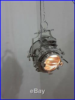 Nautical Industrial Vintage Ceiling Pendant Hanging Light Pendant Chrome Lamp