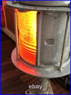 Nautical Marine B&B Engineering Post RED Dock Light Vintage