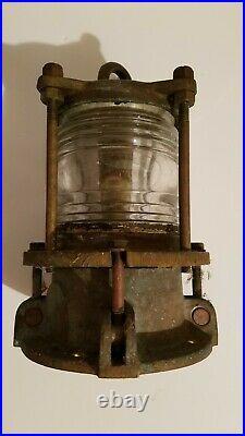 Nautical Marine Bronze Piling Post Dock Light #4338 L29 Vintage Original NICE