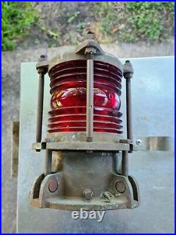Nautical Marine Bronze Piling Post Dock Light Vintage Original NICE