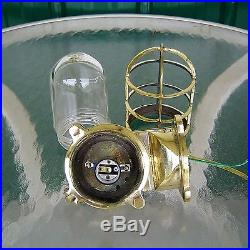 Nautical Polished Brass Wall Mounted Vintage Bulkhead Light Rewired