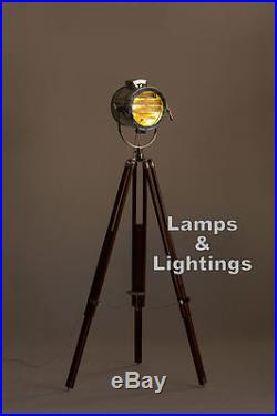 Nautical Vintage Floor Lamp Marine Spot Studio Light Tripod Floor Home Lighting