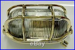 Nautical Vintage Marine Brass Bulkhead Passage Way Light Set Of 2