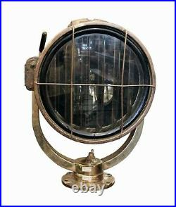 Nautical Vintage Marine Brass Cargo Ships Search Light #NM321