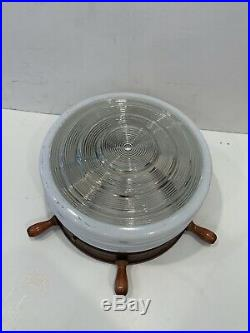 Nautical Vintage Mid Century 2 Ceiling Light Fixtures 1 Wall Sconce