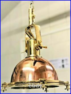 Nautical Vintage Style Cargo Pendant Spot Copper & Brass Hanging New Light