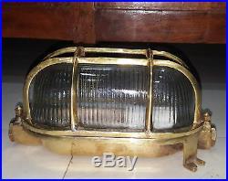 Nautical Vintage Style Passage Way Bulkhead Brass Cover New Light 2 Pcs