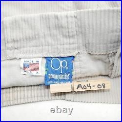 OP Longrider Corduroy Shorts Khaki Mens Size 36 Dogtown Surf Vintage 80s 70s USA