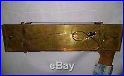 Old Vintage Art Deco Brass Glass Nautical Ship Light Fixture Wall Sconces Lamp