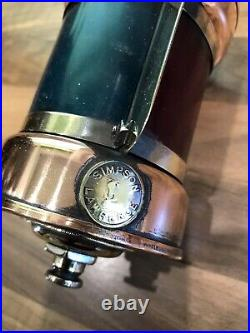 Original Vintage Copper Brass Simpson Lawrence Bicolour Light Maritime Nautical