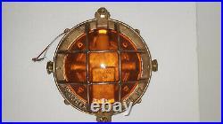 Original Vintage Passage Way lights. World War 2 Bronze Liberty Ship Lights