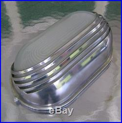 Original Vintage Polished Aluminum Oblong Wall Light Beautiful Art Deco Look