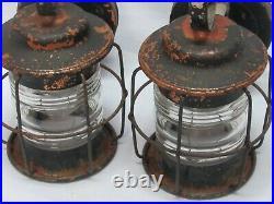 Pair Copper Vintage Nautical Porch Sconce Light Fixture Jelly Jar