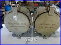 Pair Of Vintage Marine Signal Lights, Marine Navigation Lights Red Fresnel Lens