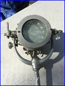 Pair Vintage Navy Naval Ship Signal Lamp Lights Aluminum Commercial Best Quality