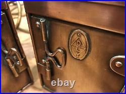 Pair Vintage Original DL Ships Copper Brass Navigation Lights Maritime Nautical