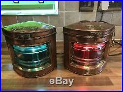 Pair Vintage Original S & L Copper Ships Navigation Lights Maritime Marine