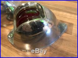 Pair Vintage Original Ships Chrome Bronze Brass Teardrop Nav. Lights Maritime