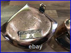 Pair Vintage Original Ships Copper Brass Simpson Lawrence Nav. Lights Maritime