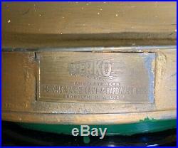 Pair of Large Vintage Perko Ships Lanterns Port And Starboard Lights