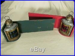 Pair of Vintage Nautical Perko Running Lights on Backboards